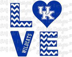 Chevron Love University of Kentucky Wildcats by SVGFileDesigns