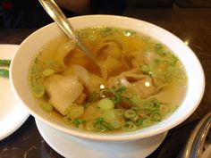Delicious shrimp and pork Won Ton soup at Din Tai Fung Restaraunt Glendale Americana at Brand