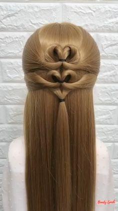 Hairdo For Long Hair, Bun Hairstyles For Long Hair, Braided Hairstyles, Front Hair Styles, Medium Hair Styles, Hair Style Vedio, Hair Tutorials For Medium Hair, Turban Headbands, Hair Videos