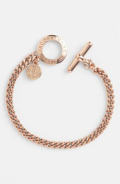 MARC BY MARC JACOBS 'Toggles & Turnlocks' Link Bracelet in Rose Gold | Nordstrom