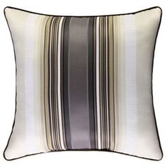 J. Queen New York™ Bennington Square Throw Pillow in Platinum - BedBathandBeyond.com