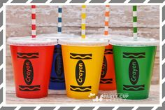 Complete Your Crayon Themed Party With Our Custom Designed Signature Cups Have Dual Uses They Make The Perfect Decoration