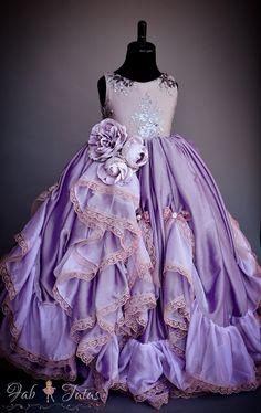 "FabTutus | Products | Flower Girl Dress | ""Glitter Rose"" Dress"