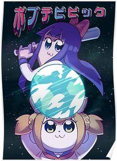 'pop team epic' Poster by tomotomo Anime Figures, Anime Characters, Yuri, Love Machine, Drawings Of Friends, Kawaii Cute, Memes, Wallpaper, Character Art