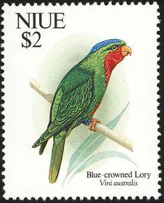 Niue 1992 - El Lorito de Samoa,endémico de los archipiélagos de Samoa, Tonga y Lau.