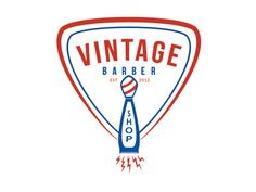 Vintage Barbershop Logo Concept 3 by Rodney Crimes (Dayton, Ohio)