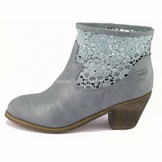 Fabulous Fabs low heel ankle boots, navy