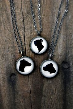 Custom Dog Breed Necklace - Bronze or Antique Silver Cameo Pendant - Customized Dog Breed Necklace - Gift for Pet Lover, Dog Owner