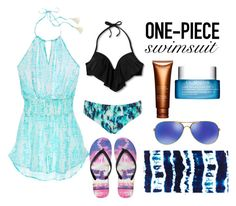 """""""Feel free like a bird"""" by brightattitudes ❤ liked on Polyvore featuring Xhilaration, Kenneth Cole, Victoria's Secret, Aéropostale, Clarins, Oakley and onepieceswimsuit"""