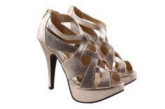 Women's fashion#heels#gold#footwear