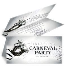 Günstige Einladungskarten für Faschingsfeste finden Sie unter www.onlineprintxxl.com! #günstigeeinladungskarten #einladungenfaschingsfest