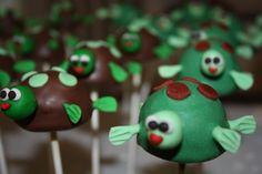 Image detail for -These turtle cake pops were created for a turtle themed baby shower ...