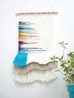 Tissage mural contemporain/wall hanging