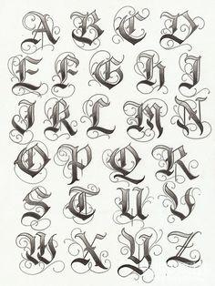 letras goticas cursivas para descargar - Buscar con Google