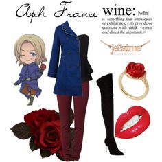 """""""Aph France (hetalia)"""" by isabel-kitty-marie on Polyvore"""