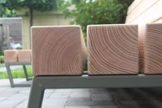 Stoere tuinbank van hout | Meubelmakerij | Houtkwadraat | Sterk spul