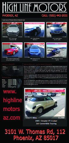 HIGHLINE MOTORS AZ   #AZSEASONSMAGAZINE