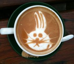 Coffee Latte Art: Bunny Rabbit
