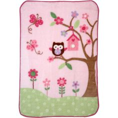$9.00 at WM Garanimals - Plush Blanket, Pink....so cute and it matches the owl stuff we already have!