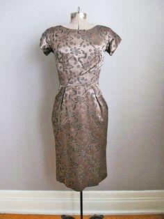 1950s Dress / 50s Cocktail Dress / Vintage by SoubretteVintage