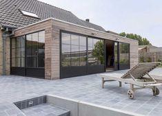Pergola Ideas For Patio Key: 9772279413 House Extension Plans, House Extension Design, Roof Extension, House Design, Garden Room Extensions, House Extensions, Wood Cladding Exterior, Contemporary Garden Rooms, Home Structure