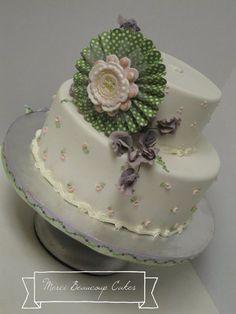 Baby Shower cake for a girl! by Reva Alexander-Hawk for Merci Beaucoup Cakes