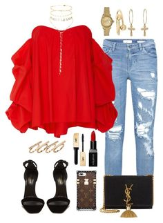 """""""#853"""" by concinnity ❤ liked on Polyvore featuring Caroline Constas, Yves Saint Laurent, J.W. Anderson, Rolex, Smashbox and Chopard"""