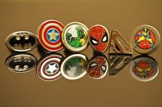 I was already planning on doing this: groom and groomsmen super hero cufflinks.