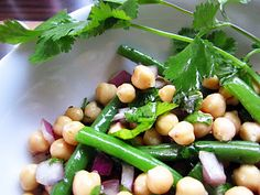 Chickpea, Green bean and Herb Salad