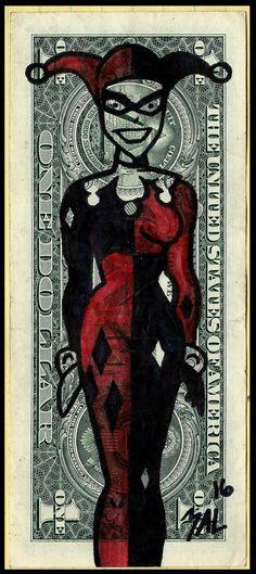 Harley Quinn Dollar by OdditiesByErnie