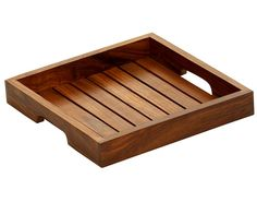 Buy in Bulk Wholesale - Wooden Square Serving Tray Handmade with Lines in Brown 8 Inch Large Serving Tray Decor, Wooden Serving Trays, Router Woodworking, Woodworking Projects, Diy Wood Projects, Wood Crafts, Diy Cutting Board, Wooden Kitchen, Kitchen Dining