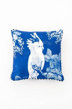 Bonnie & Neil blue Pillow   Gathered Home
