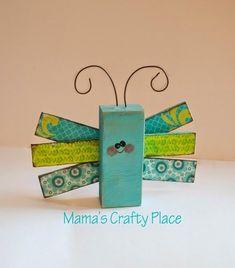 Mama's Crafts: 2x4 Crafts #BlockWoodCrafts