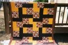 Washington Redskins quilt made for Danny Cox.