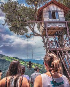 Casa del árbol #Ecuador #AllYouNeedIsEcuador #bañosdeaguasanta #iPhone #style #street #tree by patrickgog