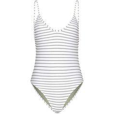 c962e0fe36fd4 Black Bower Swimwear swimsuit for woman Hutton White And Black Striped  Swimsuit By Bower Swimwear