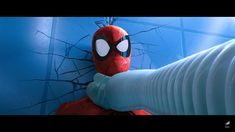 In Into The Spiderverse during Spider-Mans intro to the film its shows a brief montage of him fighting different villains including Doc Oc who hasnt yet been revealed as Octavia but still shows her newly designed transparent tentacles/arms. Eye Expressions, Spiderman Movie, Film Movie, Movies, Male Eyes, Spider Verse, Tentacle, Cyberpunk, Nerd