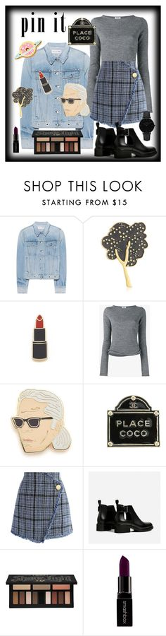 """""""Say it with Pins"""" by maggiesinthemoon on Polyvore featuring rag & bone, Marc Jacobs, Georgia Perry, Acne Studios, Chanel, Chicwish, Kat Von D, Smashbox and CLUSE"""