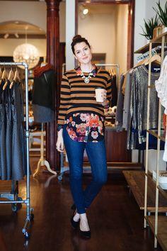 Cute way to pattern clash Mein Style, Mixing Prints, Facon, Girls Shopping, Fashion Prints, Autumn Winter Fashion, Fall Winter, Style Me, Cute Outfits