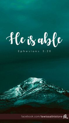 Shop Ephesians - He is Able Postcard created by lewissatini. Personalize it with photos & text or purchase as is! Favorite Bible Verses, Bible Verses Quotes, Bible Scriptures, Faith Quotes, Christian Life, Christian Quotes, Ephesians 3 20, Psalm 91, He Is Able