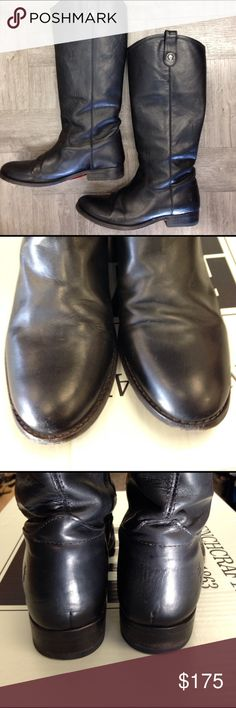 FRYE Melissa Button Black Riding Boots Sz 8.5 FRYE Black Leather Melissa Button Riding Boots.  Sz 8.5 M. Pre-owned and in very good condition Frye Shoes
