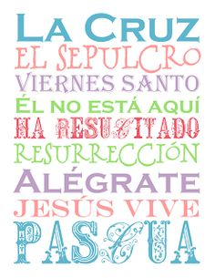 Free Easter Printables in Spanish #Easter #Printables #Spanish #Holiday    Perfect for printing on card stock as a gift for your #Spanish speaking #Compassion child #CompassionLetter