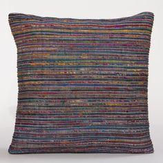 Peacock Recycled Silk Sari Pillow | World Market