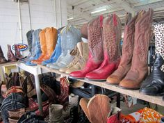 Cowboy boots Nashville Flea Market junkin' trips with Petticoat Junktion.  Taking photos of things I love.