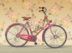 Vintage bike — Imagen vectorial #11237077
