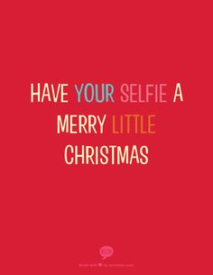 have your selfie  a merry little christmas