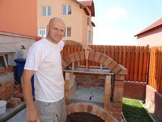 Pe Langa Casa: Gratar de Gradina Rustic din Caramida Outside Fireplace, Barbecue Design, Brick Bbq, Brick Patterns, Projects To Try, Bbq Ideas, Project 3, Garden, Fire Places