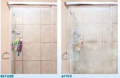 Remove hard water stains on shower doors with a surprising tip. - Tips and Tricks - Tips and Crafts Hacks Diy, Home Hacks, Cleaning Hacks, Hard Water Stains, Home Organisation, Shower Cleaner, Clean Freak, Thinking Outside The Box, Fabric Softener