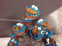 Cupcakes de Triki, el monstruo de las galletas, y Elmo