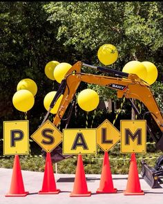 Psalm Turns 2! Kim Kardashian Throws Construction-Themed Birthday Party Complete with Real Trucks Backyard Birthday Parties, Lego Birthday Party, Happy Birthday Me, Birthday Party Decorations, Boy Birthday, Decoration Party, Birthday Ideas, Construction Party Decorations, Construction Invitations